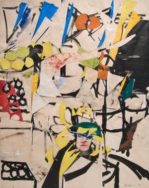 The Vendor #3, 1956. Grace Hartigan (1922-2008) was a second-generation Abstract…