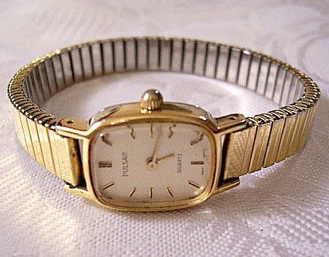 Pulsar Womens Wrist Watch Gold Tone Vintage by PrettyJewelryThings, $15.99