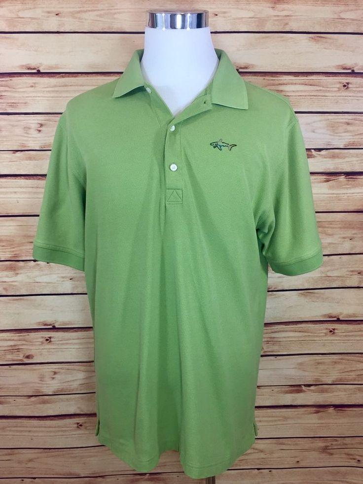 GREG NORMAN Play Dry Mens Golf Polo Shirt (XL) Short Sleeve Lime Green EUC  | eBay
