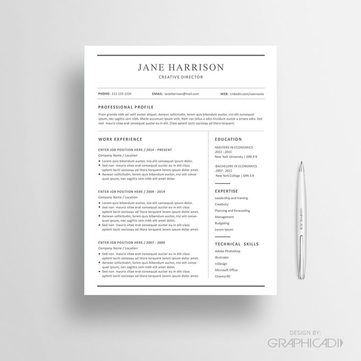 Best 27 Etsy Resume Templates - Etsy CV Templates images on