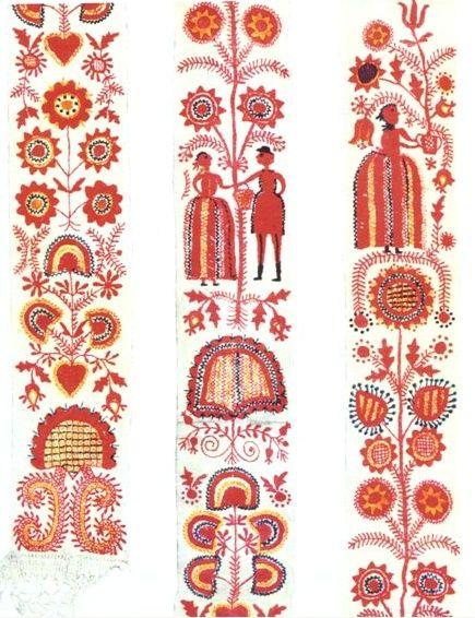 Detail koutnice, okolí Pelhřimova, 1820 (Detail of childbed curtain from vicinity of Rehřimov, 1820)