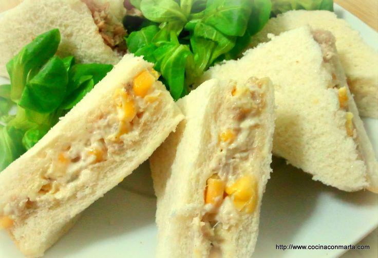 Cocina con Marta. Recetas fáciles, rápidas y caseras: Sandwich de pollo al curry