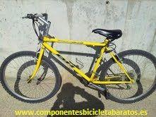 Siguiente reto .. este rayo amarillo que nos gusta para destacar. Bicicleta BH 26 pulgadas. Propiedad de Componentes Bicicleta Baratos en Zaragoza.