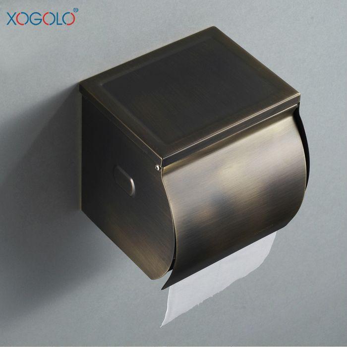 Купить товарXogolo европейский бронзовый коробки ткани водонепроницаемый нержавеющей стали держатель туалетной бумаги туалетная бумага кассета держатель для туалетной бумаги 660 в категории Держатели бумагина AliExpress.