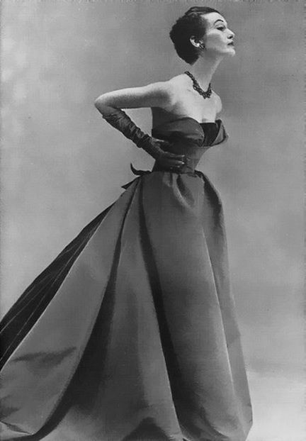 1951 - Christian Dior gown   reference for Celeste Mortinné's wardrobe and lifestyle @ the last canvas online novel
