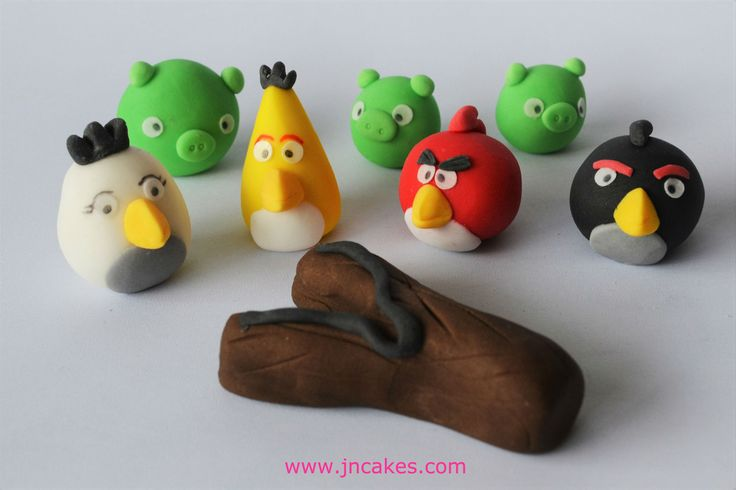 ANGRY BIRDS - 7 edible figures cake toppers decoration