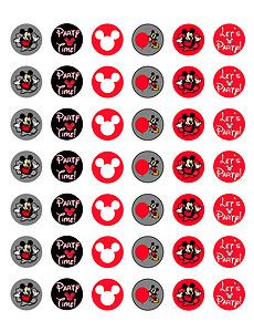 Free Printable Bottle Cap | Mickey Mouse Printable Bottle Cap Images Red Template of 42 | eBay