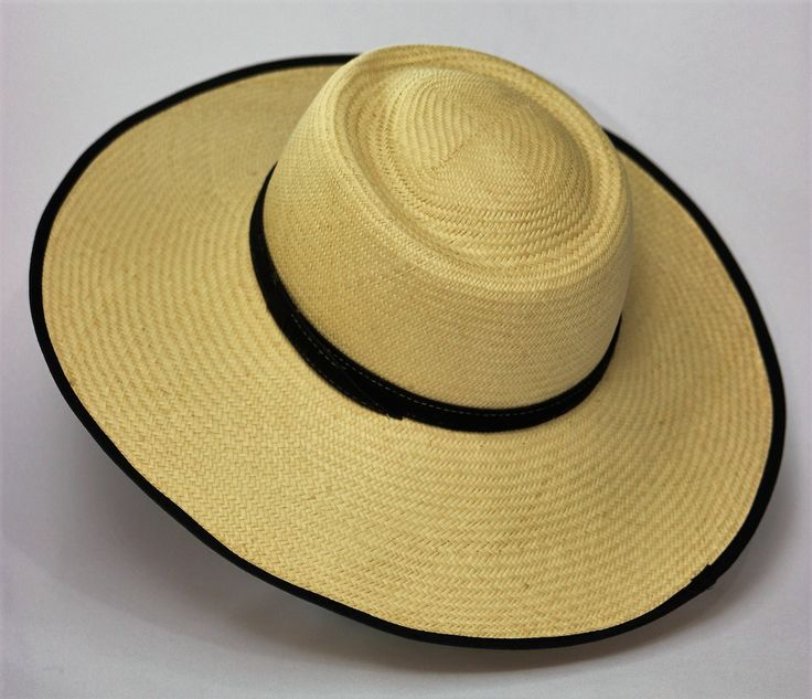 "Black-Lined Cream ""Pava"" Womens Sun Hat - Bacano Bags and Hats"