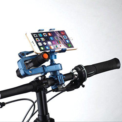 JLERU Titulaire Mont Bike Téléphone, 360 ° Rotation 2 en 1 Support vélo universel pour moto vélo guidon téléphone et lampe torche Support…