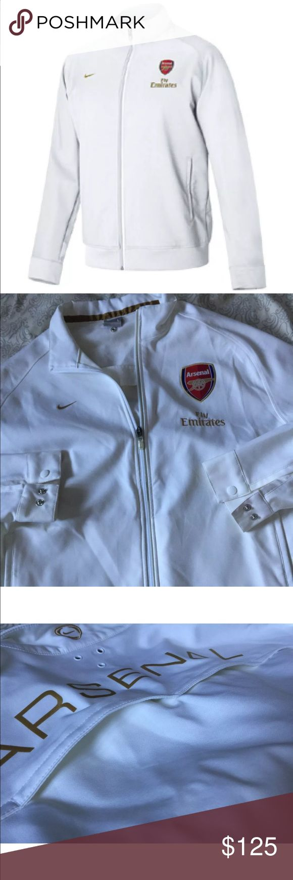 Arsenal official Nike Arsenal Training Jacket new Celebrate Arsenal soccer by sporting this official Nike Arsenal Line Up Training Jacket! 