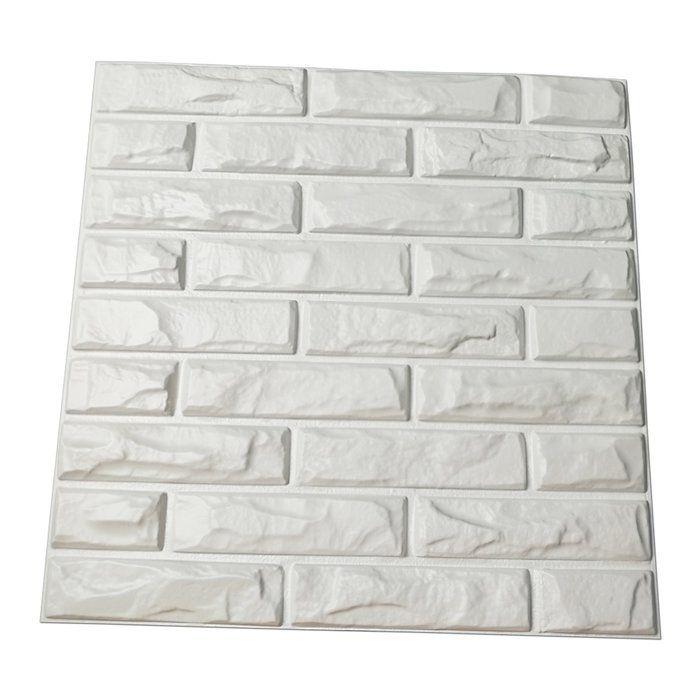 Venne 19 7 X 19 7 Vinyl Wall Paneling In White Vinyl Wall Panels Wall Paneling Brick Wall Paneling