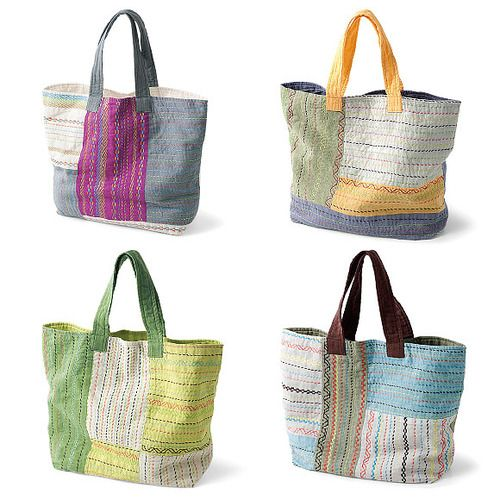 Nakshi kantha patchwork & embroidery bags