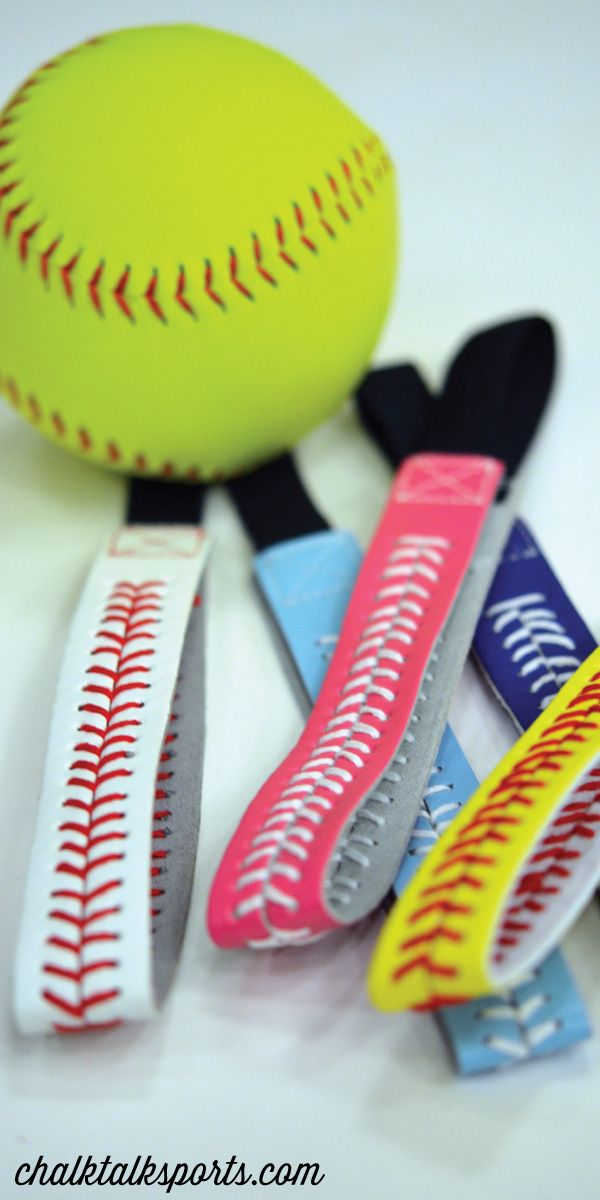 Softball Leather Stitch Headbands are so cute! Great for an end of season gift! Softball girls will love to wear these unique headbands all summer long! Only from ChalkTalkSPORTS.com