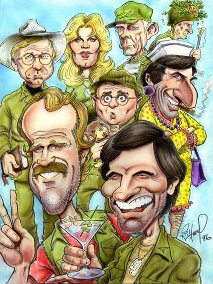 Cast of M*A*S*H* (by Tom Richmond)