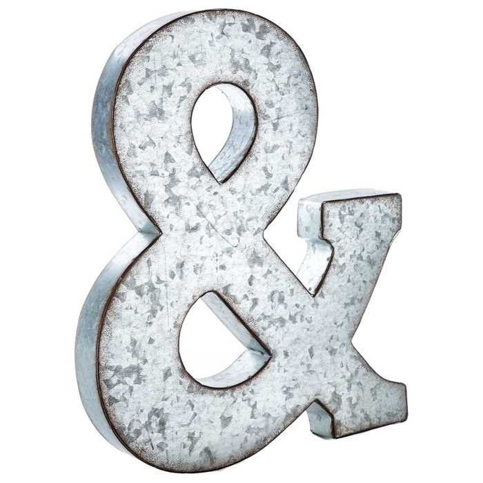 Large Galvanized Metal Letter
