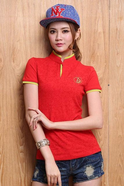 2016 High Quality Solid Color Women Polo Shirt S-XXL Cotton Slim Polo Femme Shirt Plus Size Brand Polo Raph Women Velvet
