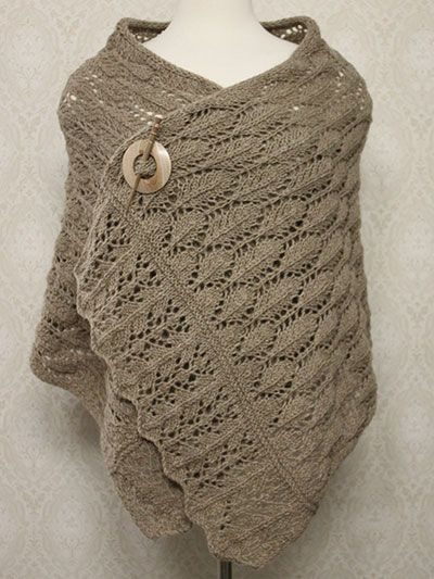 Free knitting pattern for Rafael Knit Shawl with lace