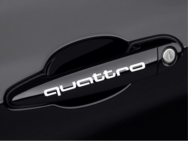 Audi QUATTRO A3 A4 A5 A6 S4 Q3 Q5 Q7 TT Door Handle Decal sticker emblem logo W #natash777