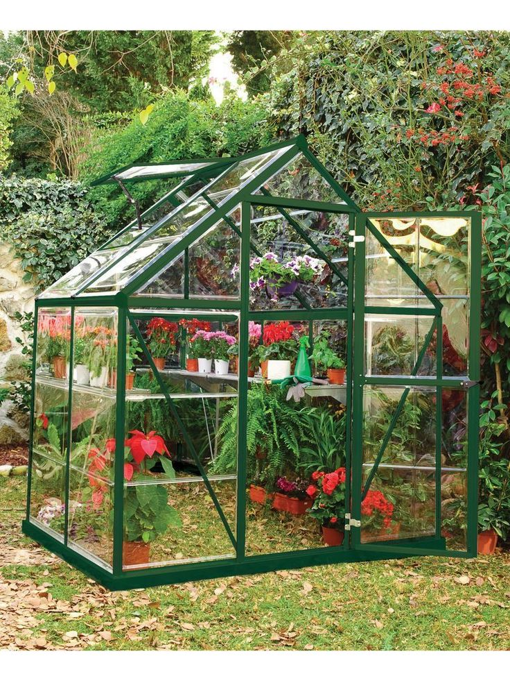 Small Greenhouse Kit | Polycarbonate Greenhouse with Galvanized Steel Base #conservatorygreenhouse