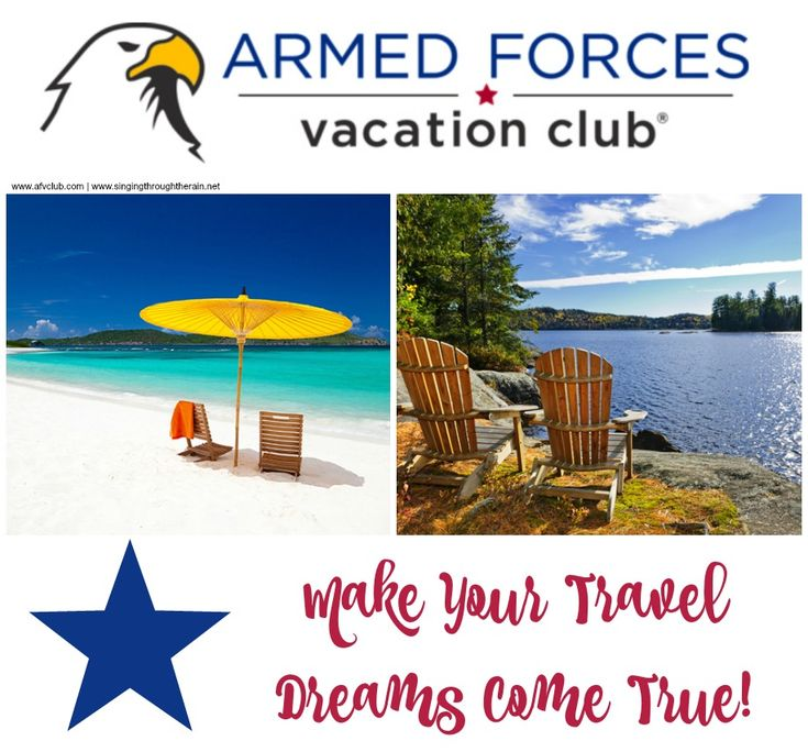 Are you military family looking for travel? Make Your travel dreams come true with the Armed Forces Vacation Club! Travel anywhere in the world... #MyAFVC