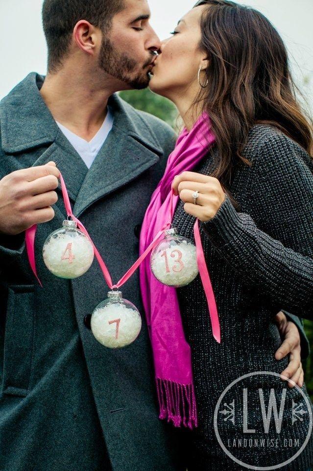 Christmas wedding ideas - save-the-date