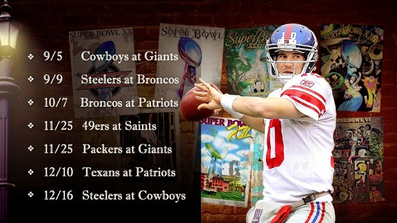 2012 NFL Schedule!! Draft in 2 weeks!! It's in the air...Football's Back!!