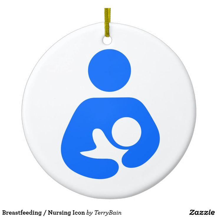 Breastfeeding / Nursing Icon Ceramic Ornament