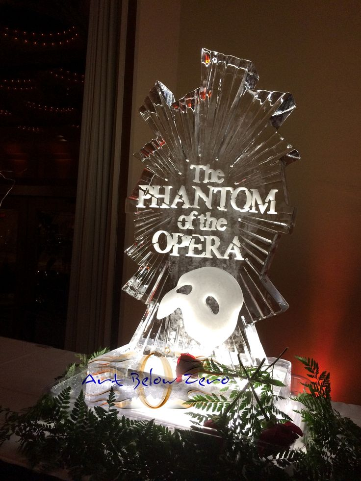 The Phantom Of The Opera Ice Sculpture At The Marcus