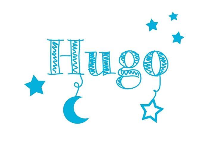 Geboortesticker sterren type Hugo
