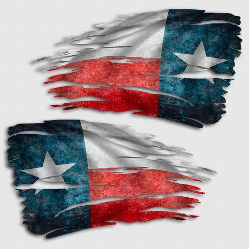 Texas Flag The Lone Star State    Vintage Looking Travel Decal Sticker