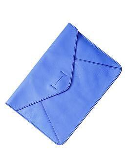 Leather envelope clutch | Gap
