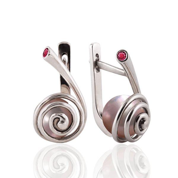 """""""Морской вихрь"""" с розовым жемчугом. #prytulajewellery #diamond #бриллианты #серьги #женскиесерьги #jewellery #украшения #эксклюзивныеукрашения #ювелирныеукрашения #prytulajewellery #jewelry #gold #golden #prytulajewellery #жемчуг #белоезолото"""