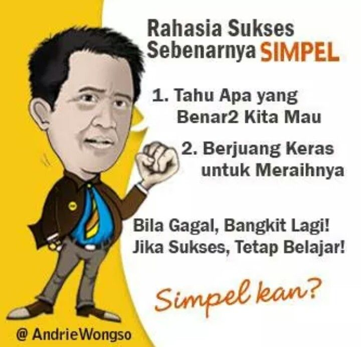 Rahasia sukses by andrie wongso