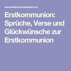 Erstkommunion: Sprüche, Verse Und Glückwünsche Zur Erstkommunion