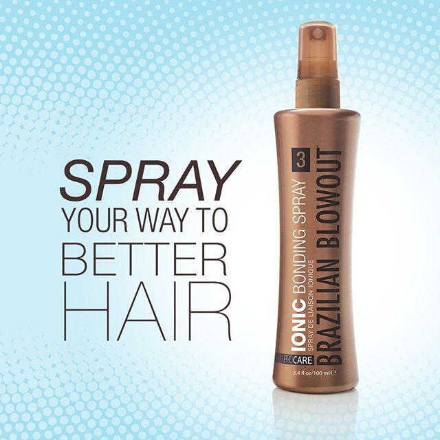 For Longer Lasting Shine Between Blowouts Use Our New Ionic Bonding Spray Formulated To Keep Hair Looking Smooth And Friz Free Brazilianblowout Frizz