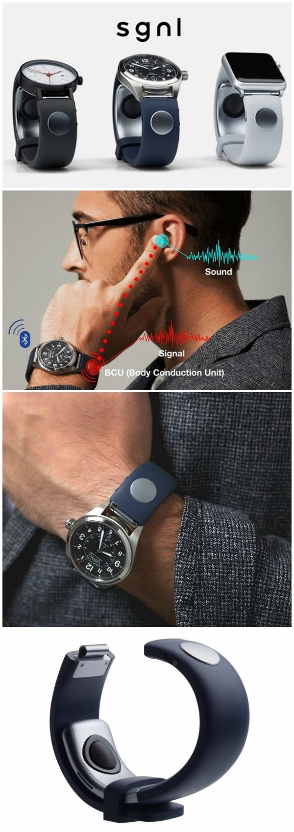 Sgnl is the smart strap that enables you to make calls by placing your fingertip…