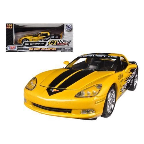 2005 Chevrolet Corvette C6 Yellow #9 GT Racing 1/24 Diecast Car Model by Motormax