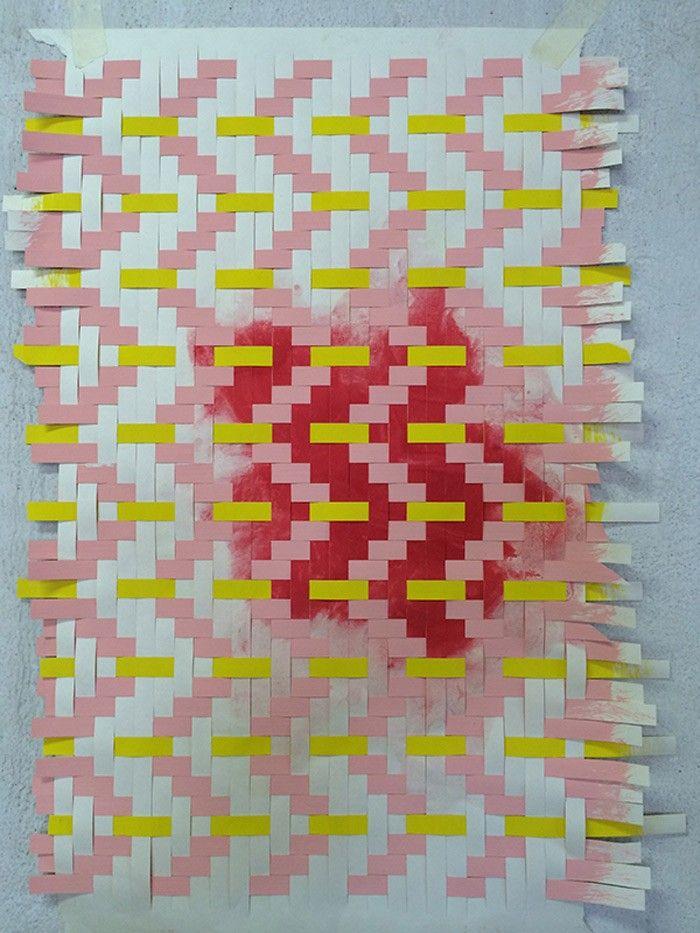 Helle Gråbæk and Maria Kirk Mikkelsen – Paper Weaving & Filter Patterns