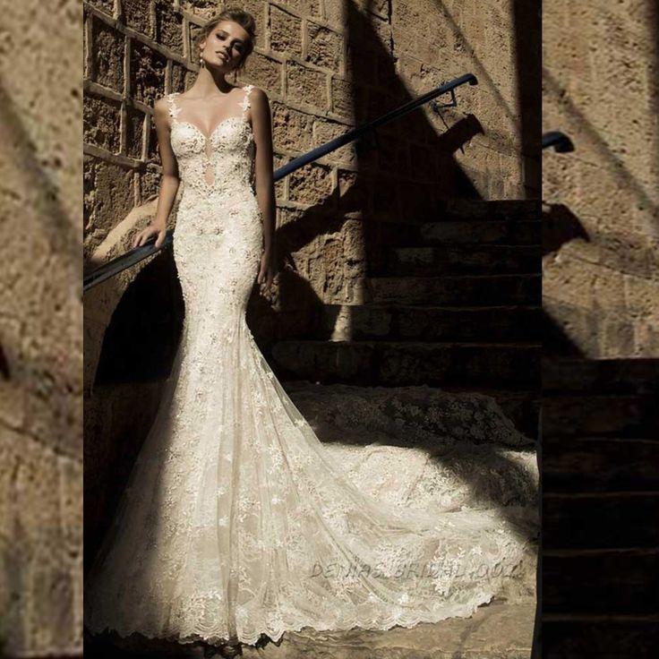 저렴한 Vestido 드 노비 전체 페르시 레이스 인어 웨딩 드레스 빈티지 신부 가운, 구매 품질 웨딩 드레스 직접 중국 공급 업체 :  Real Photos vestido de novia 2015 Yousef Aljasmi Myriam Fares Ball Gown Long Sleeve Wedding DressesUSD 165.00/pie
