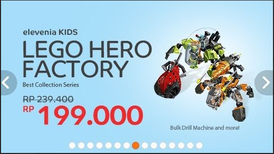 Harga Spesial untuk Lego Hero Factory Best Collection, 13 Januari – 28 Februari 2015