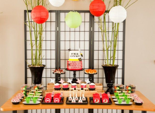 actually a Ninjago Party, but great Asian elements and decor