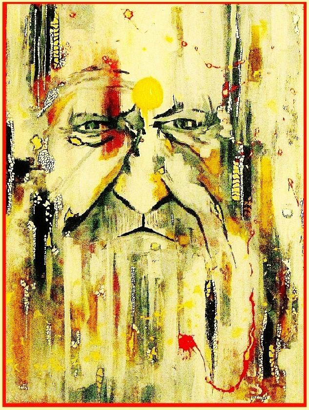 Euphemism - Hesham Malik. Mixed media on canvas.