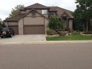 Tan house with dark brown trim for the home pinterest for Dark brown exterior trim