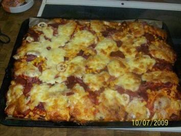 selbstgemachte Pizza - Rezept