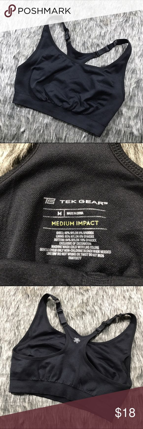 TEK GEAR Medium Impact Sports Bra New without tags sports bra. There are openings to insert cups if necessary. tek gear Intimates & Sleepwear Bras