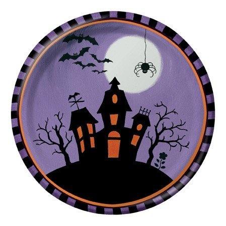 ceramic art creative converting halloween haunting round dinner plates - Halloween Ceramic Plates