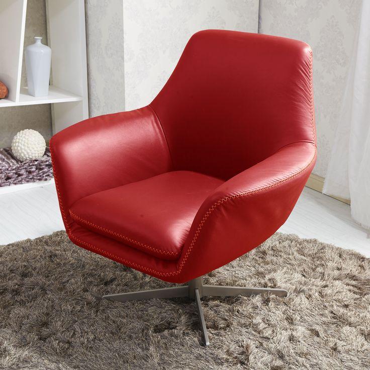 Les 25 meilleures id es concernant sofas en cuir rouge sur pinterest canap - Fauteuil pivotant rouge ...