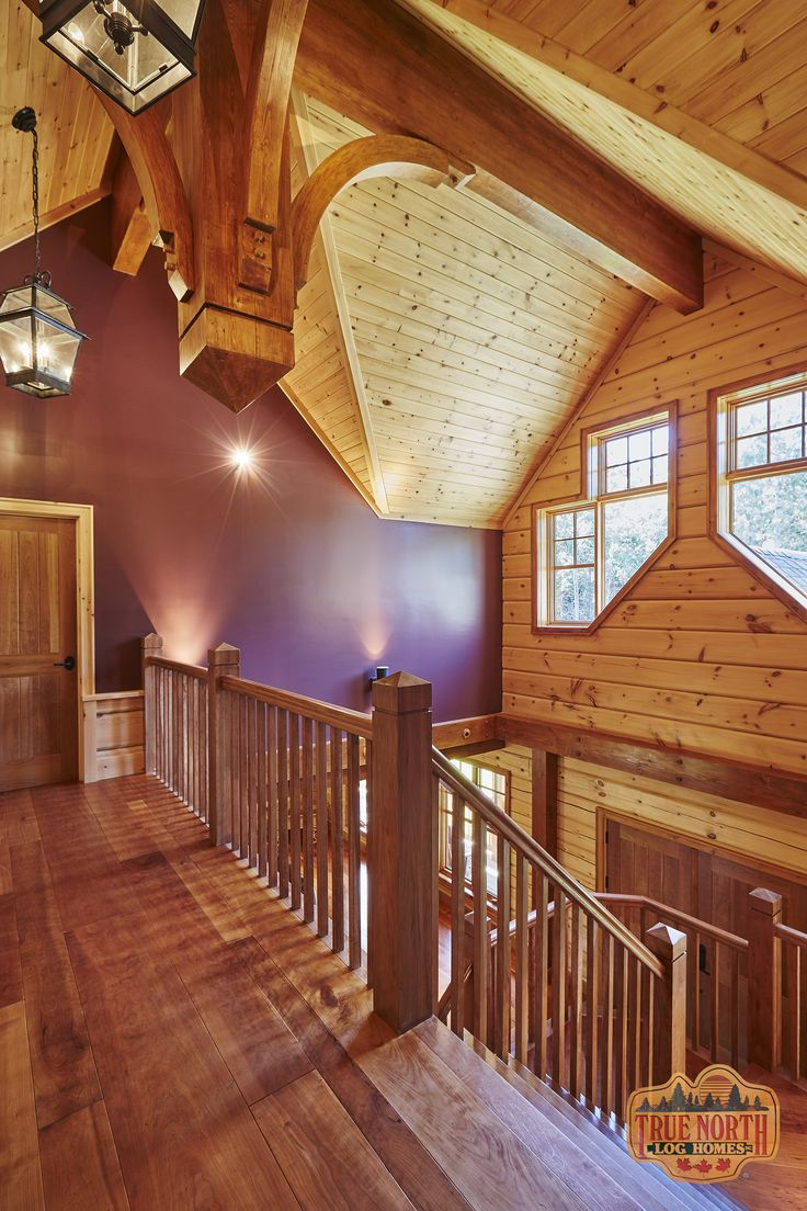 18 best log home interiors images on pinterest true north log