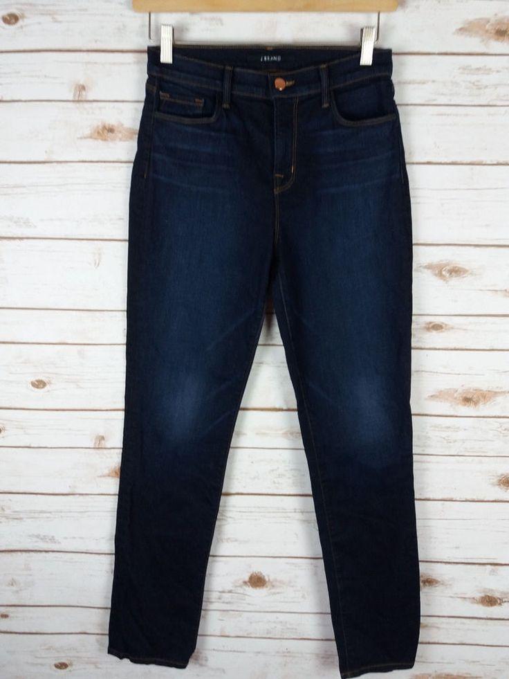 "J Brand Maria Sleepless Straight Leg Jeans Sz 28 Dark Wash 31"" inseam #JBrand #StraightLeg"