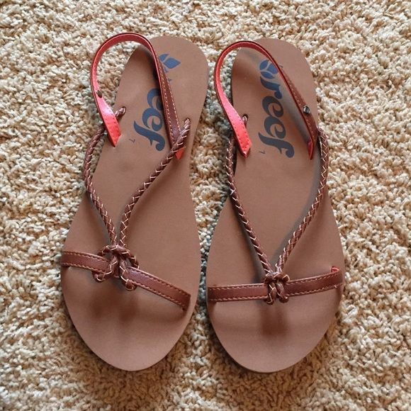Cute sandals Comfy Reef sandles.  Never worn. Reef Shoes Sandals